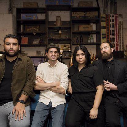 María Arenas, no centro, junto com seus colegas da Tandem