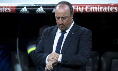 Benítez, na derrota por 4 a 0 para o Barça, em novembro.