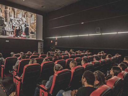 Sala do cinema Petra Belas Artes, em São Paulo.