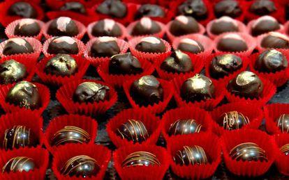 Um dos expositores do primeiro Chocolat Fashion Show de Londres, no último mês de outubro.