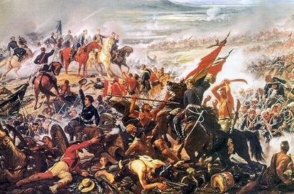 Pintura retrata a Batalha do Avaí, vencida pelas tropas brasileiras na Guerra do Paraguai (imagem: Pedro Américo/Museu Nacional de Belas Artes)