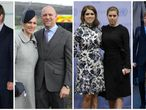 De izquierda a derecha, Autumn y Peter Philips, Zara y Mark Tindall, Beatriz y Eugenia de York y Jacobo y lady Luisa Windsor.