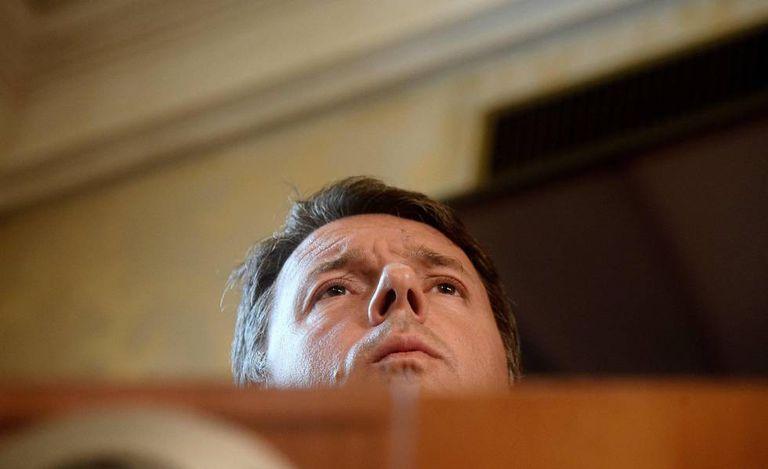 O ex-primeiro-ministro italiano Matteo Renzi, nesta terça-feira, em Roma.