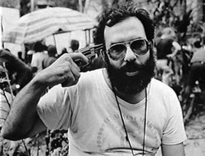 Francis Ford Coppola durante a filmagem de 'Apocalypse Now'.
