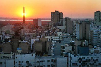 Vista do centro histórico de Porto Alegre.