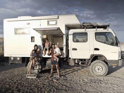 O veículo com que a família pretende dar a volta ao mundo.