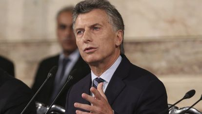 O presidente da Argentina, Mauricio Macri