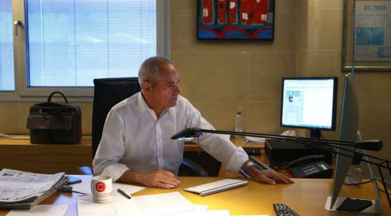 Antonio Caño, em seu escritório do EL PAÍS em Madri.