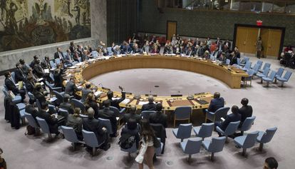 O Conselho de Segurança da ONU reunido na sexta-feira, 23 de dezembro, em Nova York.
