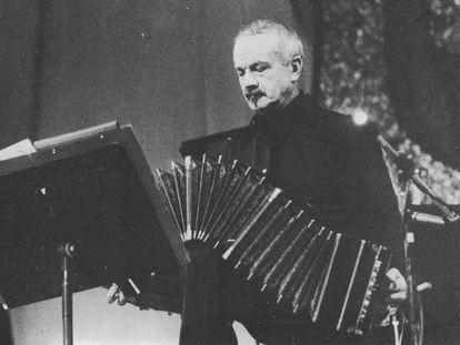 Astor Piazzolla no México, em 1983.
