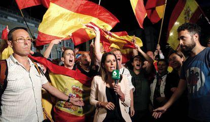 Manifestação no centro de Barcelona