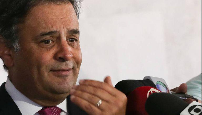 O senador afastado Aécio Neves.