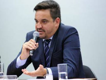 Taiguara Rodrigues dos Santos, na CPI do BNDES, em 2015.