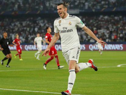 Bale comemora seu segundo gol na semifinal.