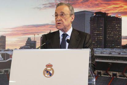 Florentino Pérez, presidente do Real Madrid e da nova Superliga europeia.