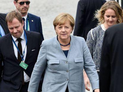 A chanceler alemã Merkel nesta quinta-feira em Bruxelas.