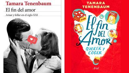 Capas do livro de Tenenbaum para para as editoras Seix Barral e Ariel.