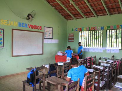 Escola primária em Oriximiná, no Pará.