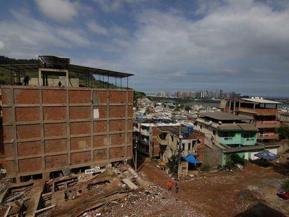 Área onde milicianos atuam em Muzema, no Rio de Janeiro.
