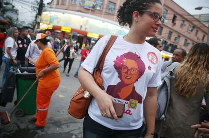 Ato de campanha no Rio nesta quarta-feira.
