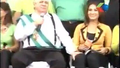 Captura do vídeo que recolhe o incidente.