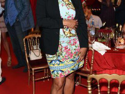 Isabel dos Santos, em Saint-Tropez, em meados do ano.