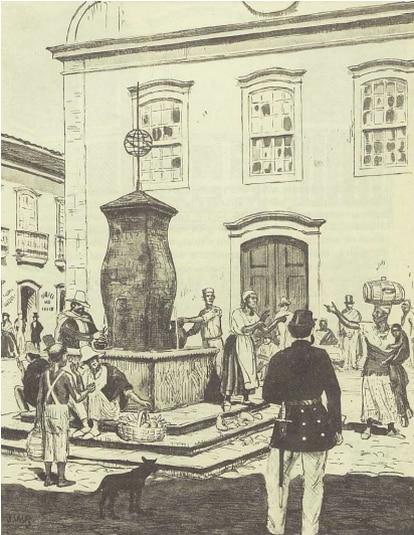 Chafariz da Misericórdia. Imagem de José Whasth Rodrigues, (1871-1957)