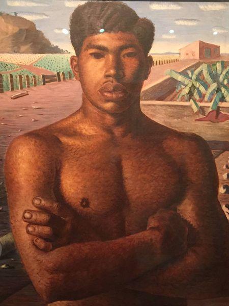 """a pintura """"Mestiço"""" de Cândido Portinari representa a mistura de raças."""