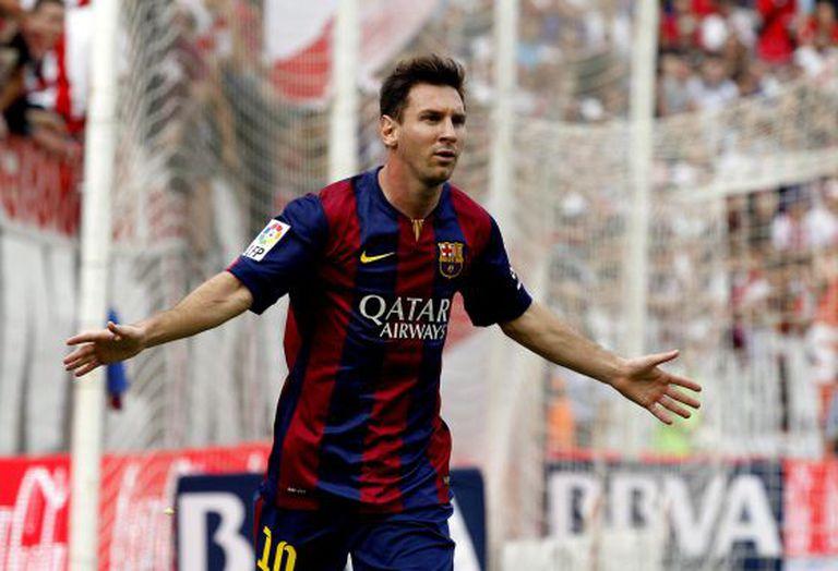 Messi, em uma partida da Liga com o Barça.