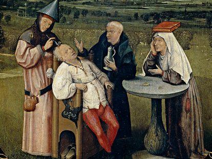 """""""A Extração da Pedra da Loucura"""" de Bosch."""