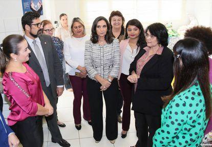 """Em visita à Casa da Mulher Brasileira de Campo Grande realizada em 28 de junho, a ministra Damares Alves elogiou o trabalho: """"É um trabalho reconhecido no mundo"""", disse na ocasião"""
