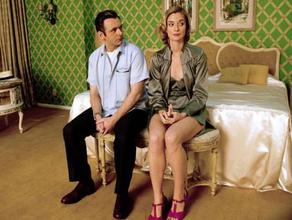 Imagem promocional de 'Masters of Sex'.