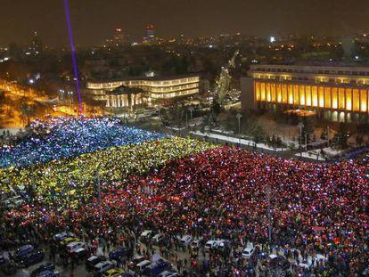 Mais um domingo de protestos em Bucareste.