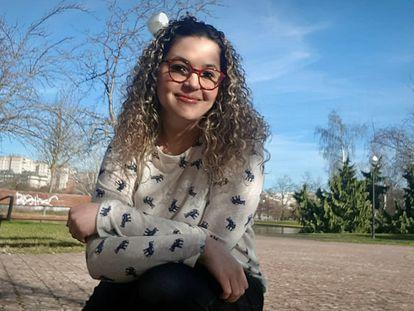 Gabriella Figueiredo, em Pamplona, na Espanha.