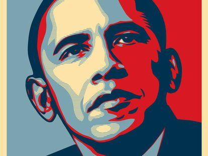 """Obama no cartaz """"Hope""""."""