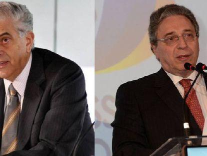 Mário Celso Petraglia e Rogério Portugal Bacellar, dirigentes de Atlético-PR e Coritiba.
