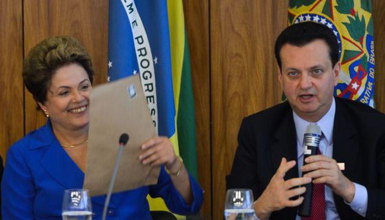 Dilma e Kassab, que vai para a pasta das cidades.