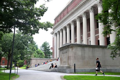 O câmpus  de Harvard em Cambridge, Massachusetts.