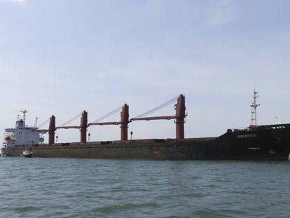 Foto sem data do navio norte-coreano 'Wise Honest'.