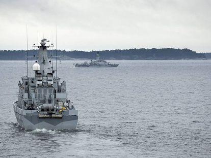 Embarcação sueca no Báltico, em 2014.