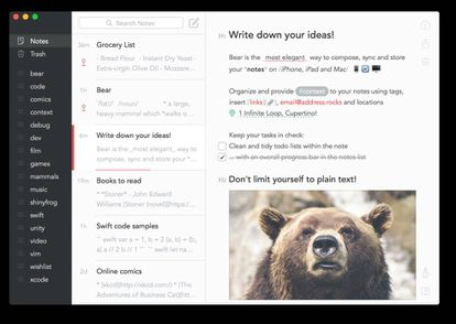 A Apple elegeu o Bear como melhor aplicativo do ano.