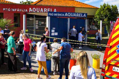 Jovem invadiu a escola Pró-Infância Aquarela e matou 5 pessoas, sendo 3 crianças e duas funcionárias, nesta terça-feira.