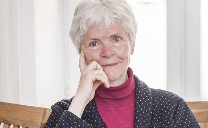 Inger Enkvist, no escritório da sua casa, no centro de Lund (Suécia).