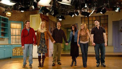 Os atores de 'Friends' na despedida da série.
