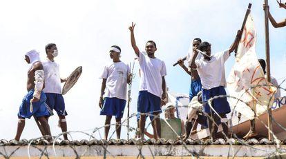 Presos amotinados em Natal, no Rio Grande do Norte.