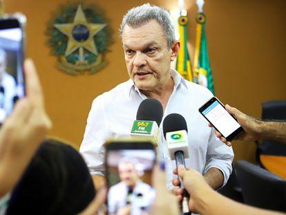 O deputado José Sarto (PDT) durante entrevista em julho de 2019.