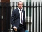 Britain's Foreign Secretary Dominic Raab arrives at Downing Street ahead of a cabinet meeting in London, Britain, July 14, 2020. REUTERS/Hannah McKay