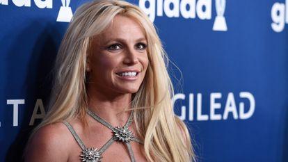 A cantora Britney Spears em uma cerimônia de premiação em abril de 2018 na Califórnia.