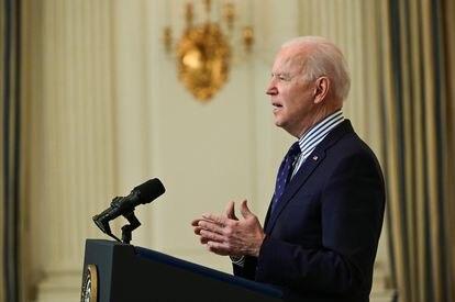Joe Biden no sábado passado na Casa Branca.