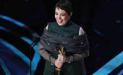 Olivia Colman, vencedora do Oscar de melhor atriz por 'A Favorita'.